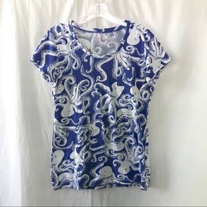 Lilly Pulitzer Blue Octopus Tee